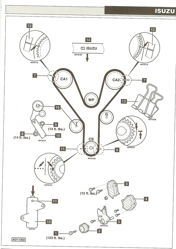 01 isuzu trooper belt diagram