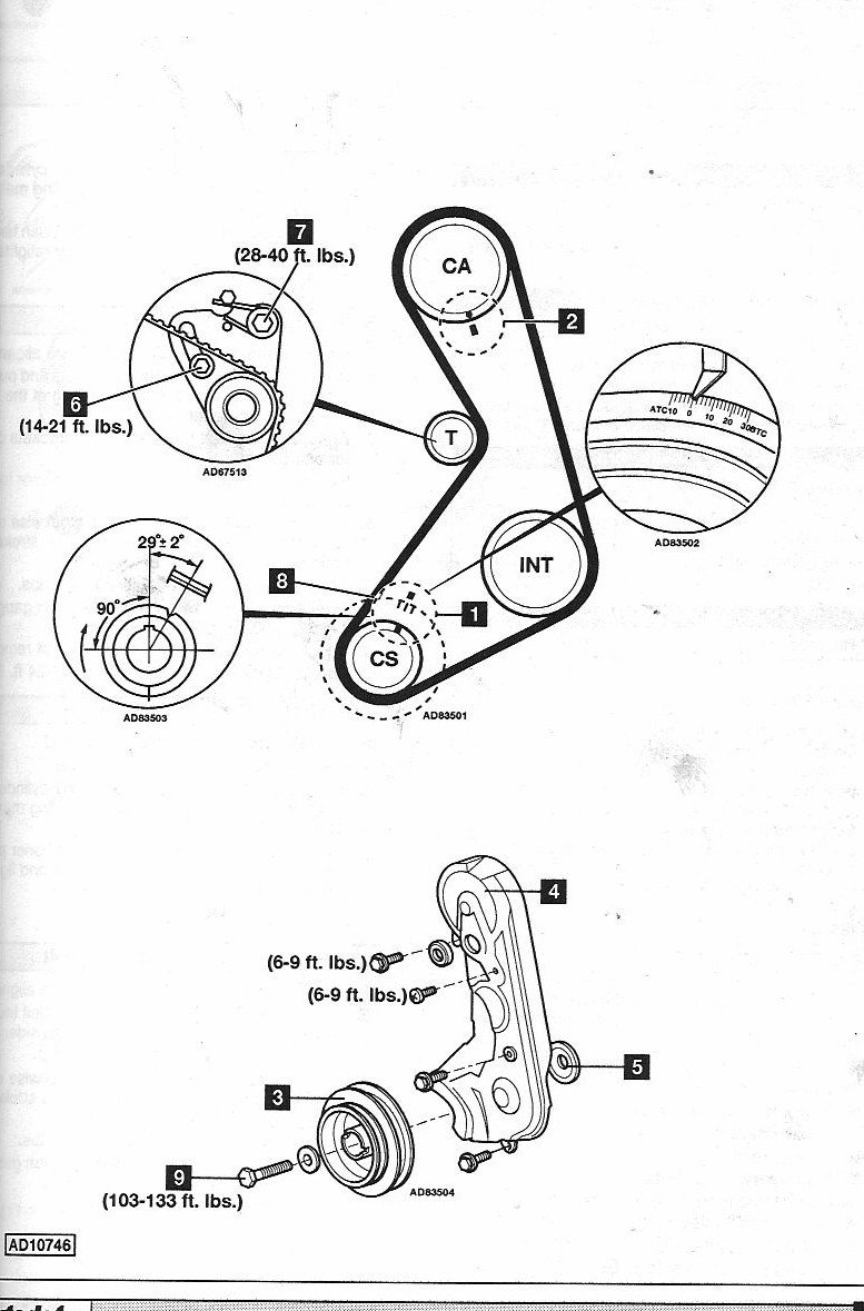 what are the timing positions for a  u0026 39 89 ford mustang 2 3l