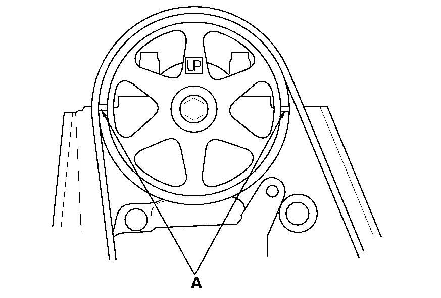 2002 Mazda 626 Timing Marks