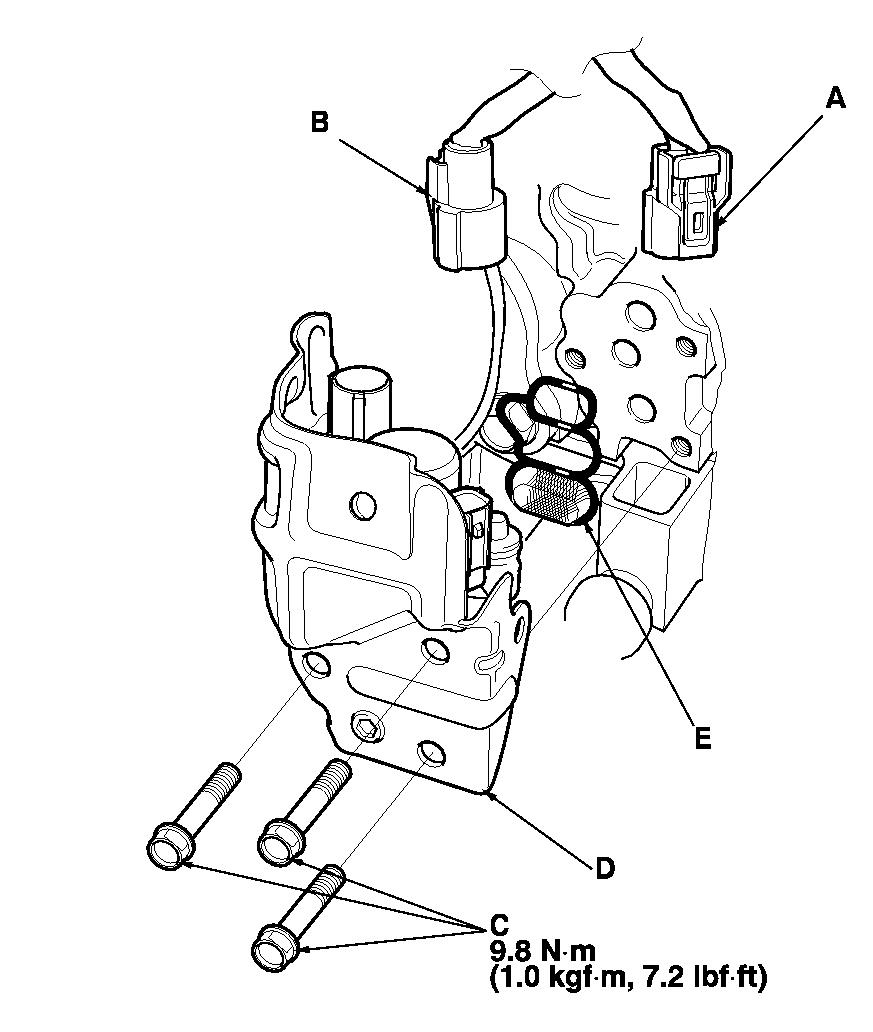 How do I remove the VTX Oil Control Valve in an 03 Honda Accord?
