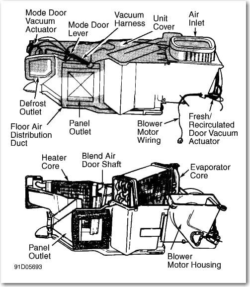 Shot on 1993 Dodge Dakota Evaporator