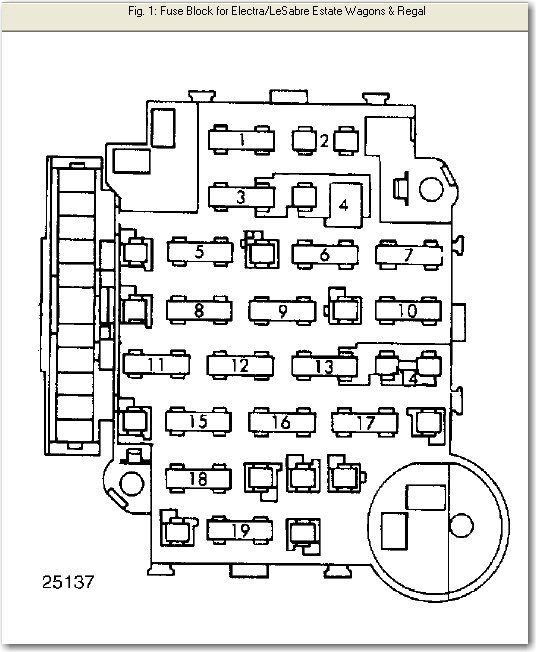I Need To Find A Fuse Diagram For A 86 Buick Regal  My