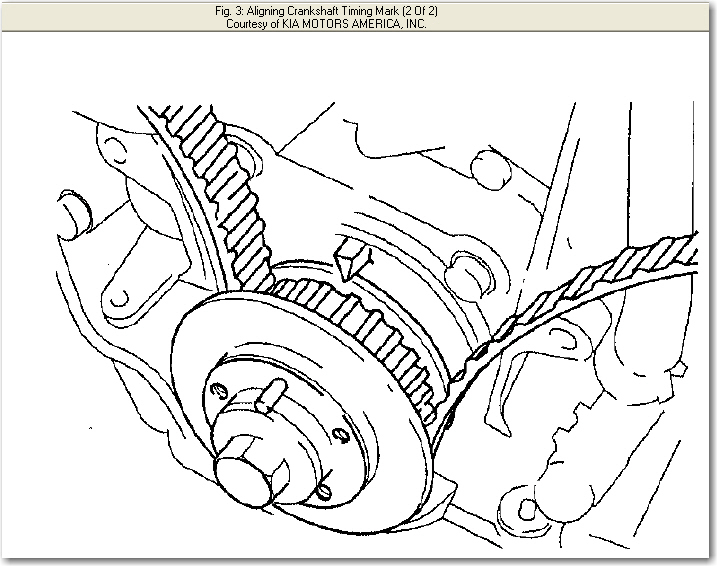 I Need A Timing Diagram For The Timing Belt Replacement On