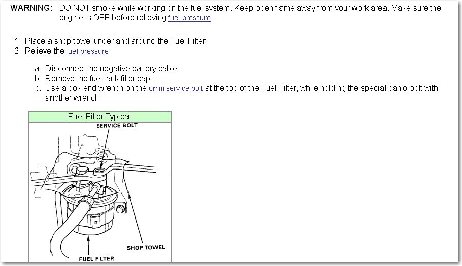 How Do You Replace Fuel Filter On 91 Acura Integra