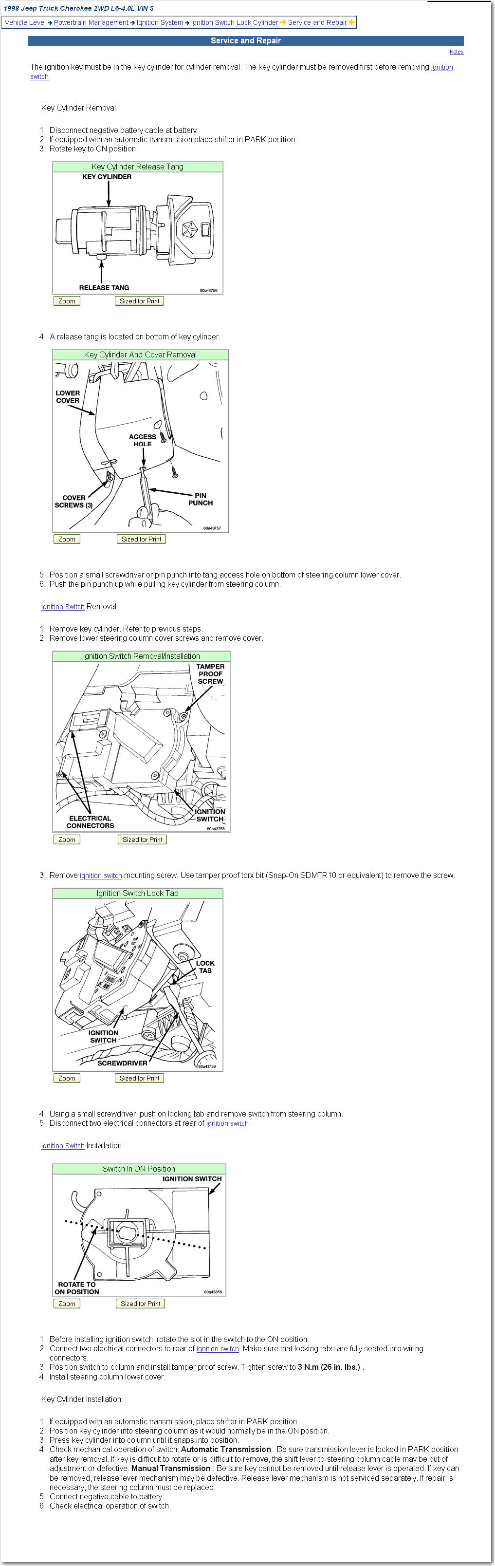 How Do You Remove And Install A New Ignition Switch In Acherokee Sport 01 Jeep Cherokee Wiring Diagram If Have Any More Questions Or Need Diagrams Please Dont Hesisitate To Askthanks Again Jhoop