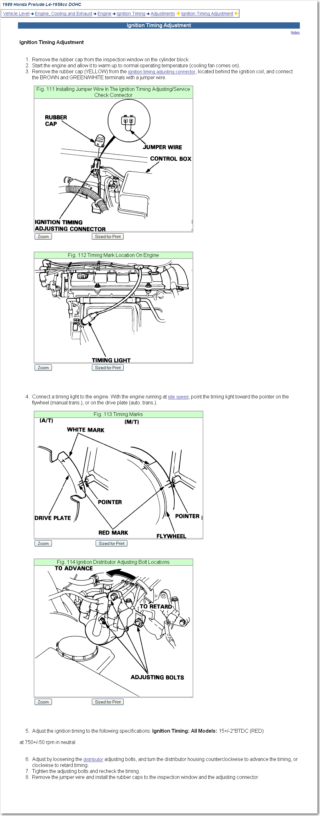 I Am Putting A Timing Belt On 89 Prelude Si It Is Dohc Motor 1989 Honda Wiring Diagram Graphic