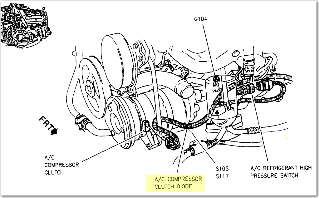 I Installed A New Ac Compressor On My 1995 Cadillac Sedan Deville  Has A 4 9 Engine  I Cant Seem