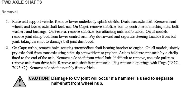 I U0026 39 M Replacing The Passenger Side Half Shaft And