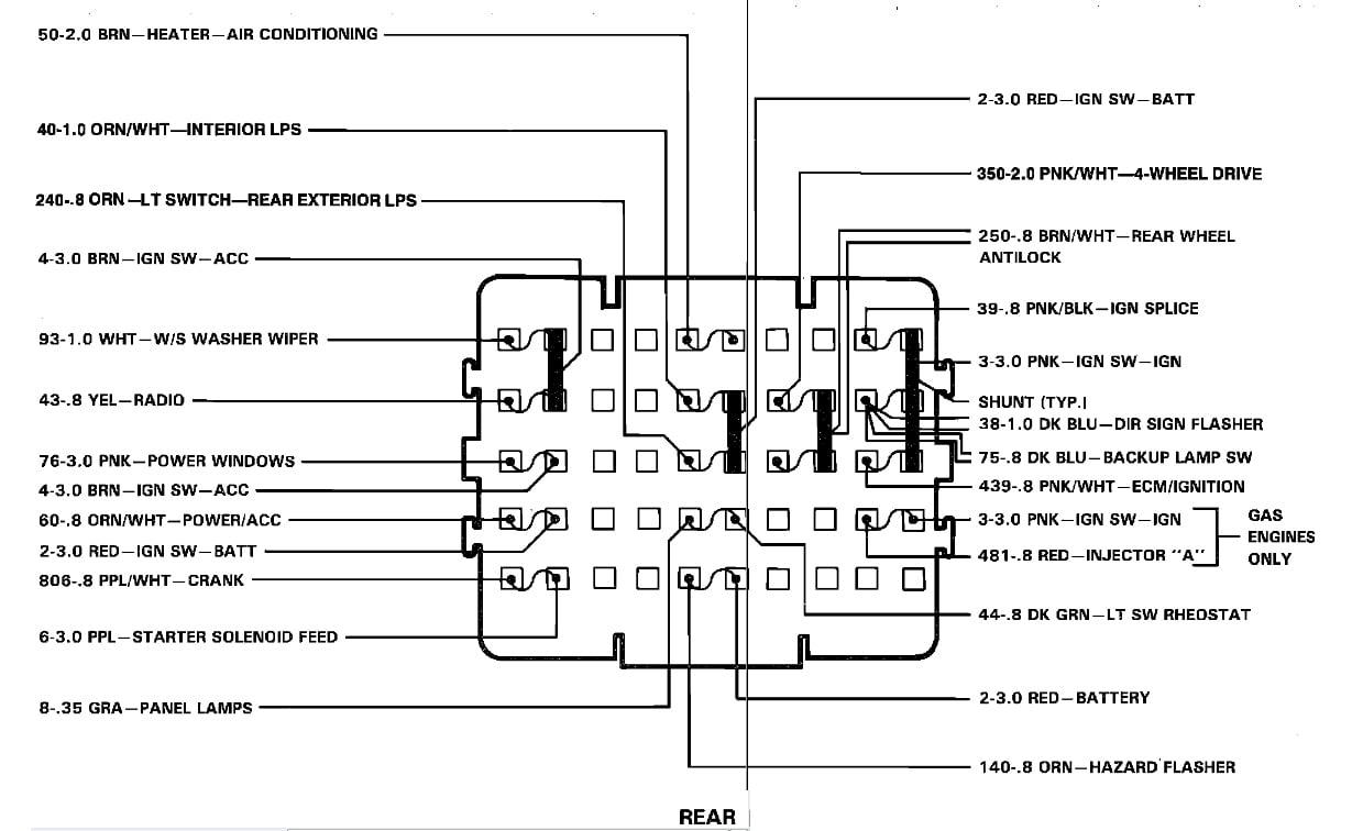 89 chevy pickup fuse box wiring diagram schematics 89 chevy truck fuse box diagram data schema 89 chevy pickup fuse box