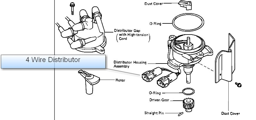 guys  has to do with distributor wiring for a 1989 toyota corolla dx 1 6 liter engine  there are