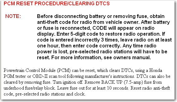 Disconnecting battery to reset engine light user manuals a number of factors 8 graphic i have a 97 honda civic and the check engine light is on i fandeluxe Images
