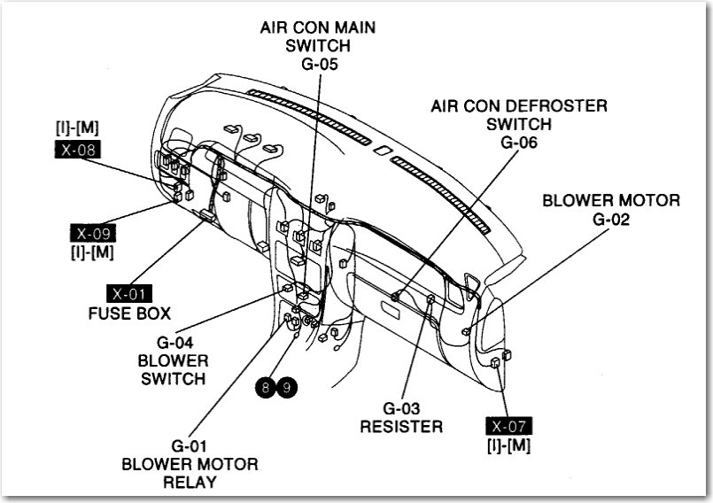 service manual  how to replace 2004 kia rio blower motor