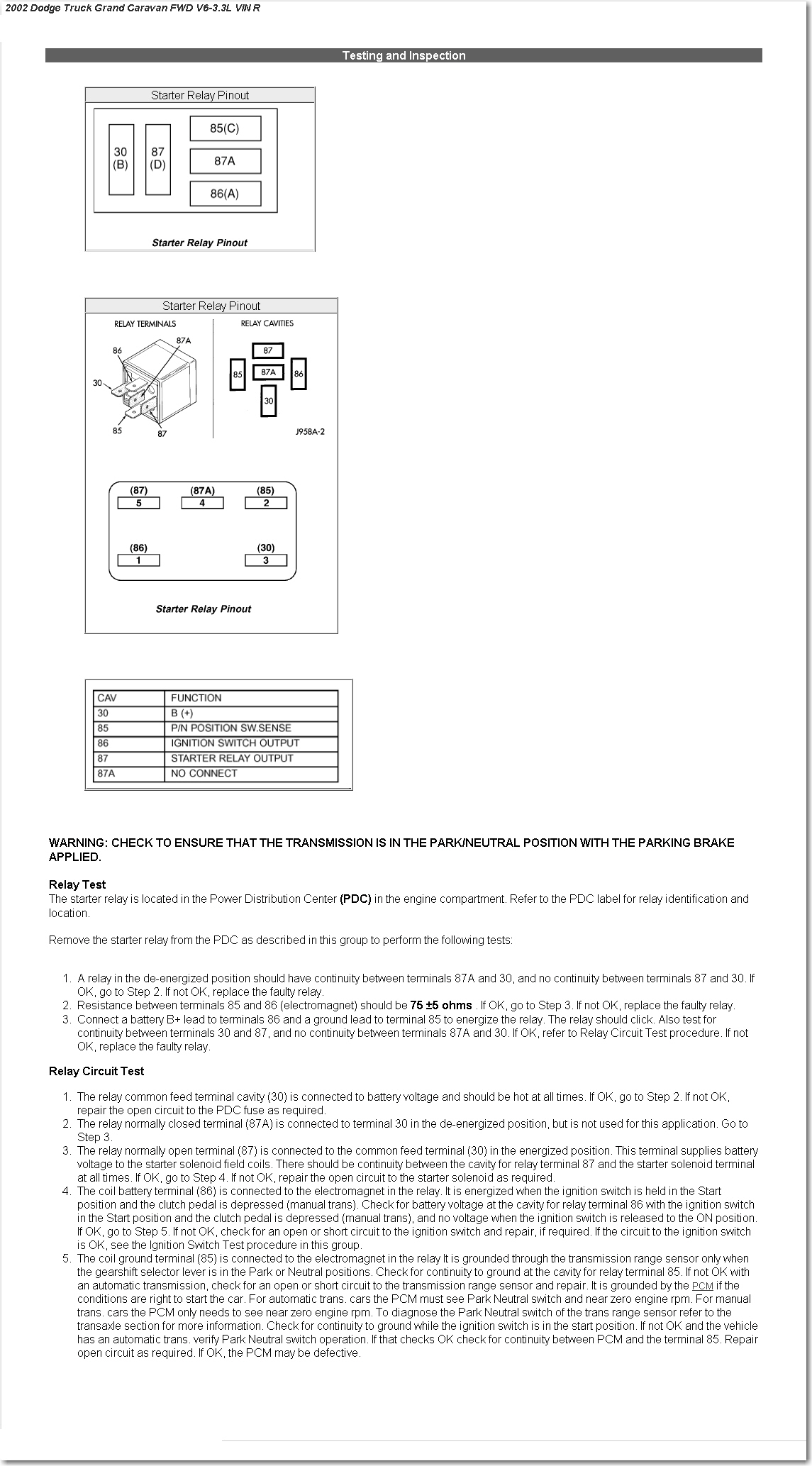 02 Dodge Grand Caravan W 33l V6 Engine Will Not Start Have Wiring Diagram I Uploaded The Of Starting Circuit On This Vehicle You Can Download It By Clicking Here Looking At We See That There Is A