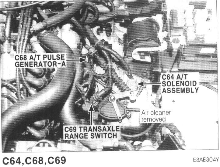 Where is the transmission range sensor located on the