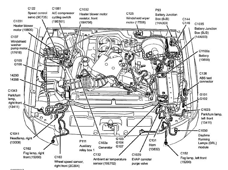Diagram  2002 Ford Explorer Sport Engine Diagram Full