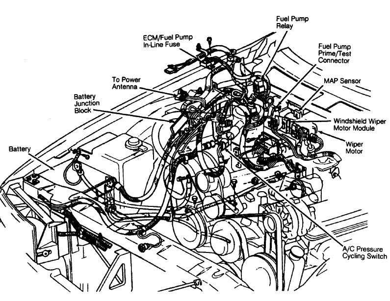 1986 chevrolet 305 engine diagram