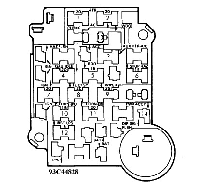 1990 Chevrolet K2500 Fuse Box Diagram Door Lock Fuse