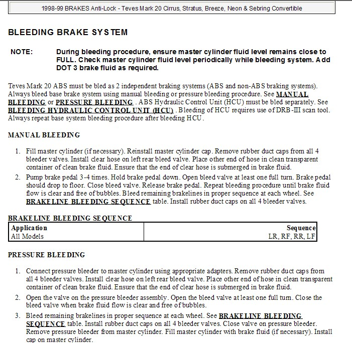 How to bleed brake system after doing complete brake job