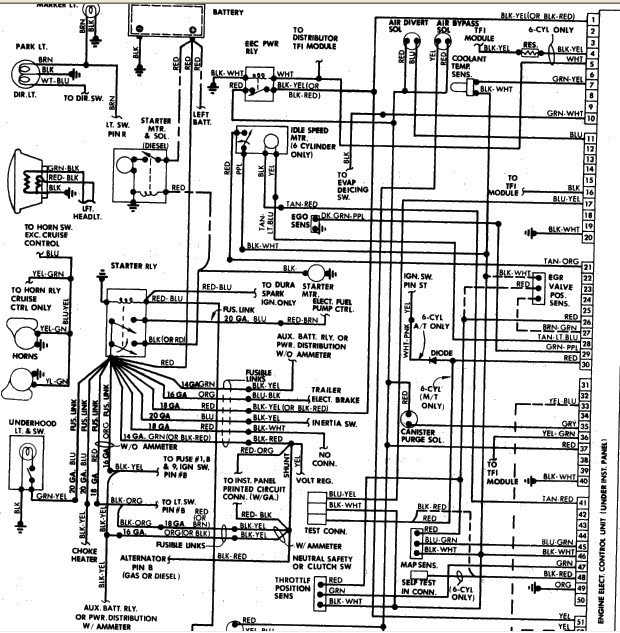 1985 ford 302 engine diagram