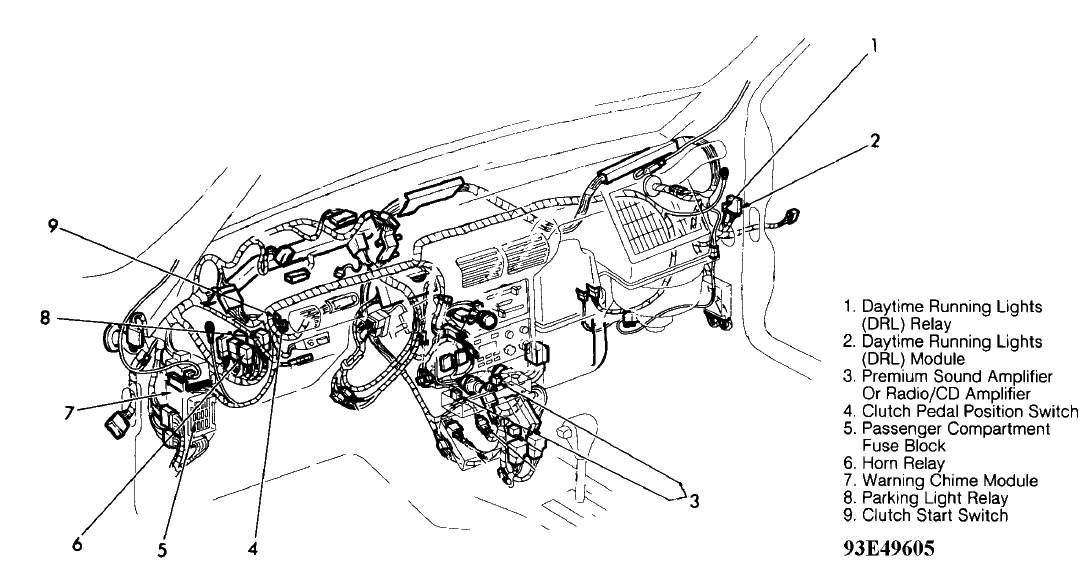 1993 Mercury Tracer Fuse Box