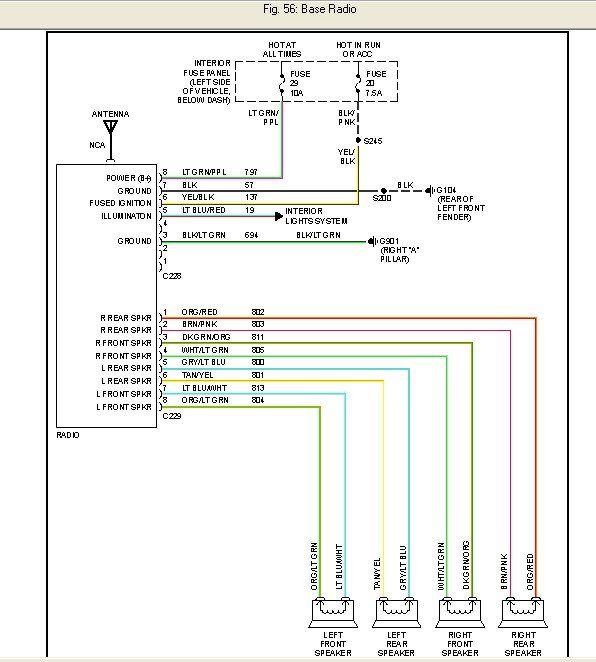 2005 ford expedition stereo wiring wiring schematic 2005 Ford Explorer Reverse Light Wiring Harness Diagram at 2005 Ford Explorer Radio Wiring Harness Diagram