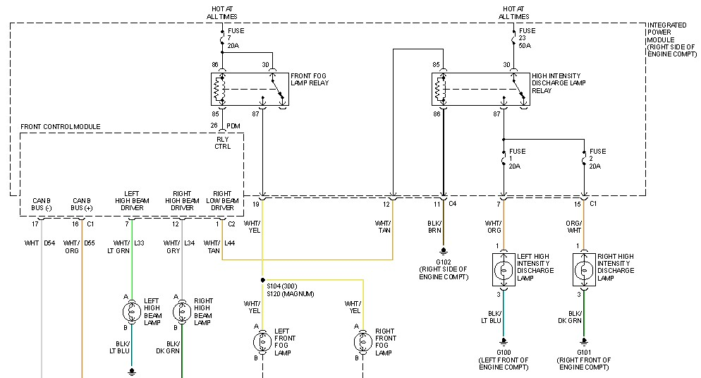 i own a 2005 chrysler 300c with hid low beam headlights ... chrysler 300 stereo wiring diagram #15