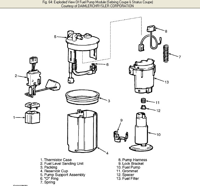 2001 Chrysler Sebring Convertiable 27 Engine Replace Fuel Filter. Chrysler. 2001 Chrysler Sebring Fuel Tank Diagram At Guidetoessay.com