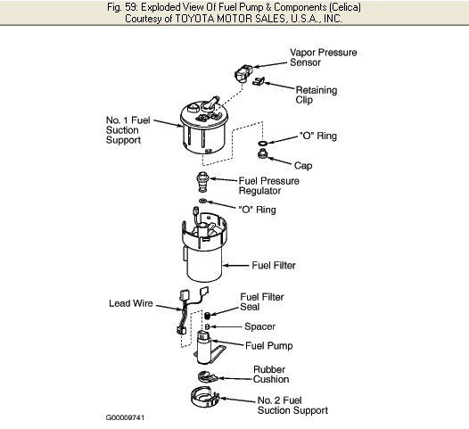 replace a fuel filter on a 2001 toyota celica gt?