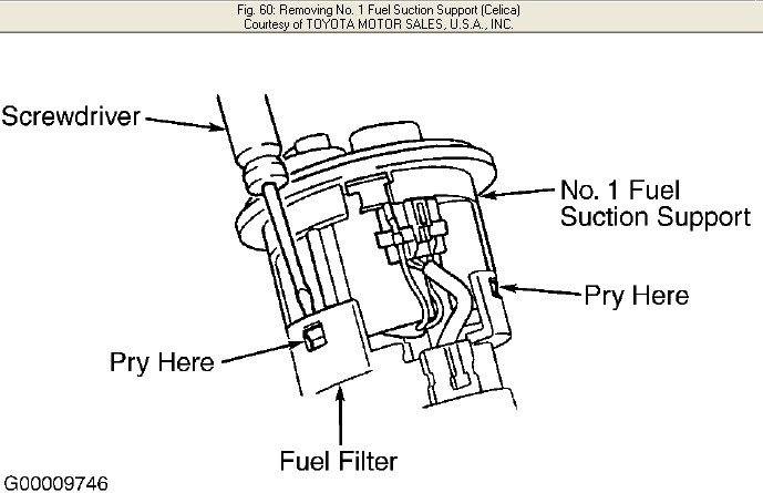 how to replace a fuel filter on a 2001 toyota celica gt?  justanswer