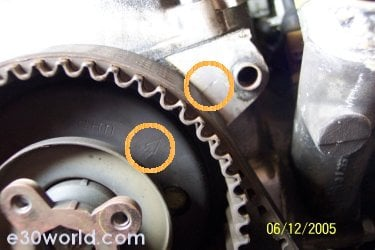 I need to find timing marks for camshaft and crankshaft