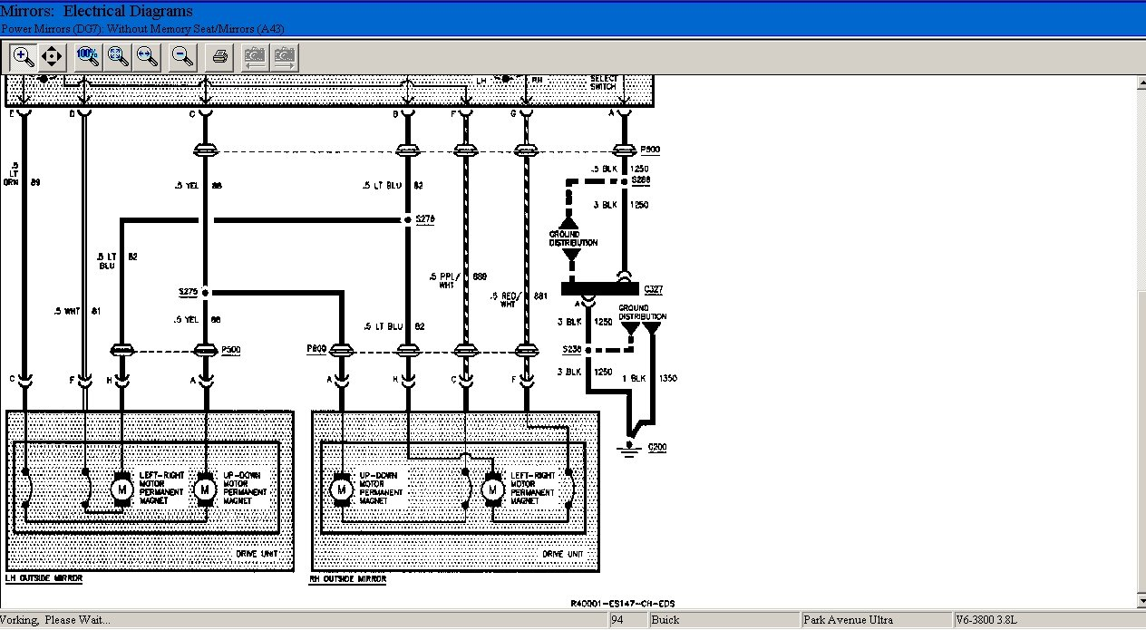 Need Wiring Diagram For 1994 Buick Park Avenue Ultra  I Am