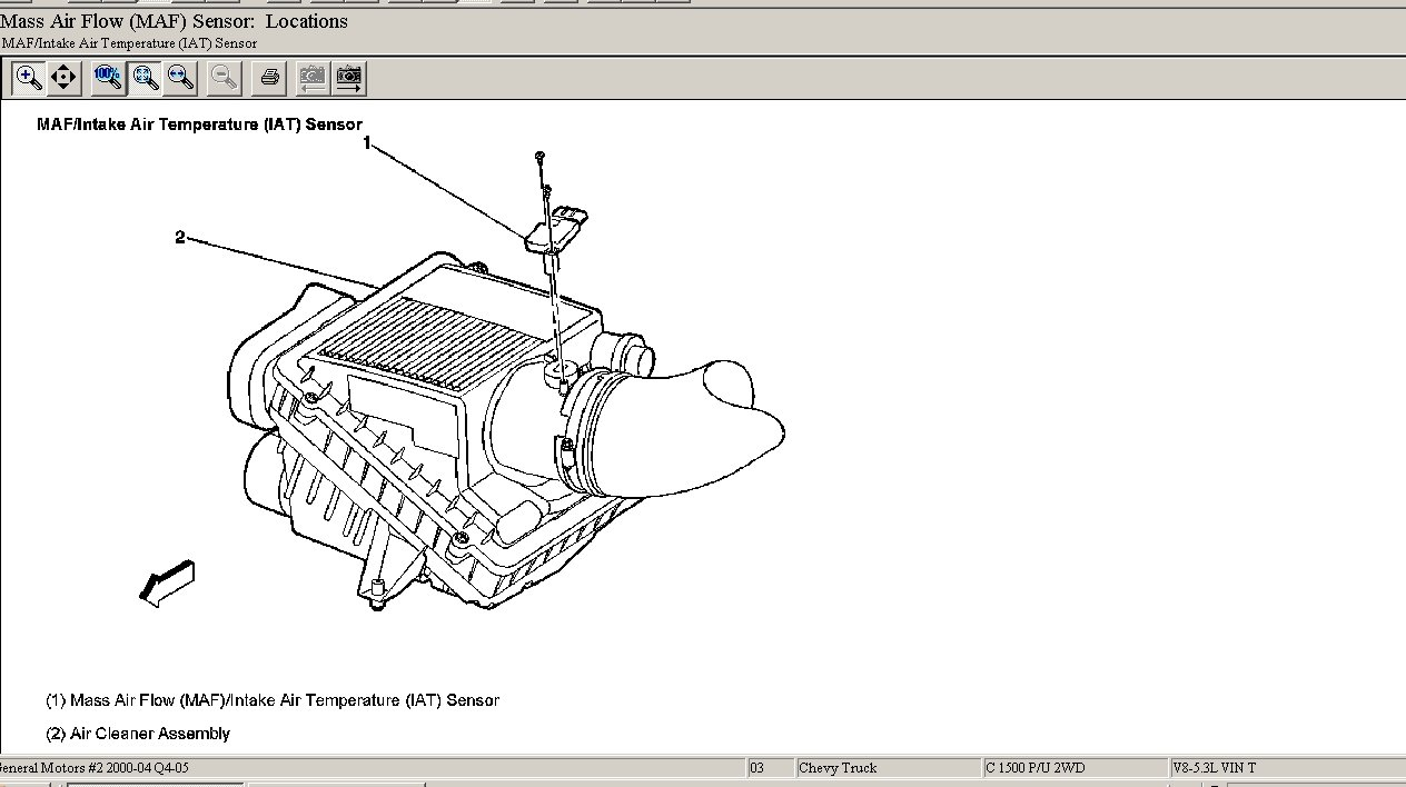what is the location of the air intake temperature sensor on a 2003 chevy silverado  thanks