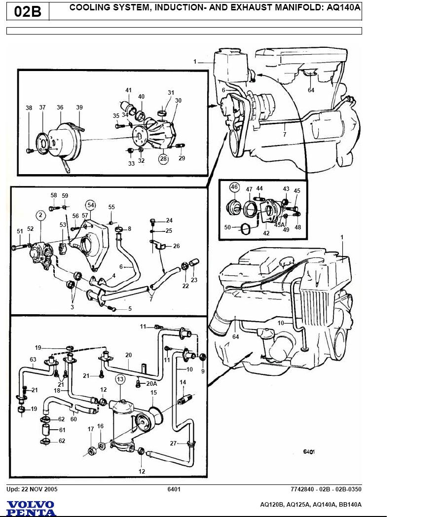 i have a 1984 bayliner capri w aq125a volvo penta motor found plain rh  justanswer com Volvo AQ125 Cooling System Used Volvo Penta Engine Parts