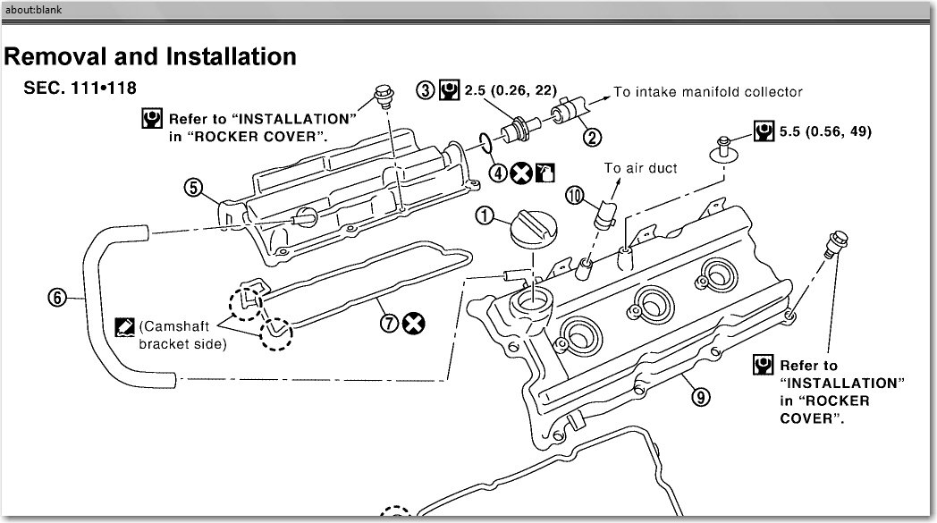 nissan altima pcv valve location
