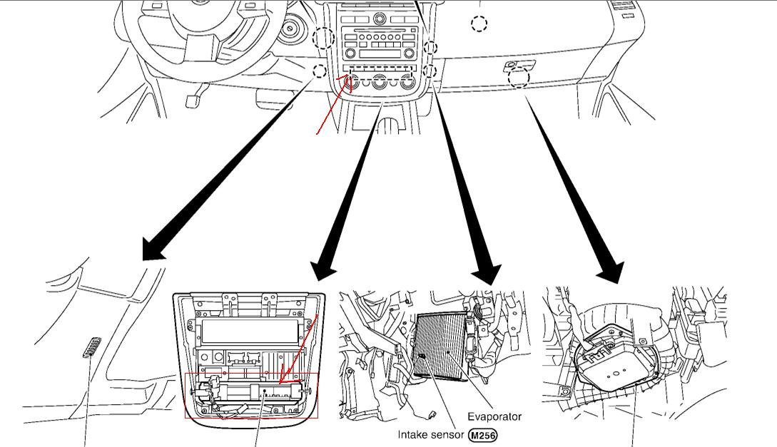 maxima blower motor location