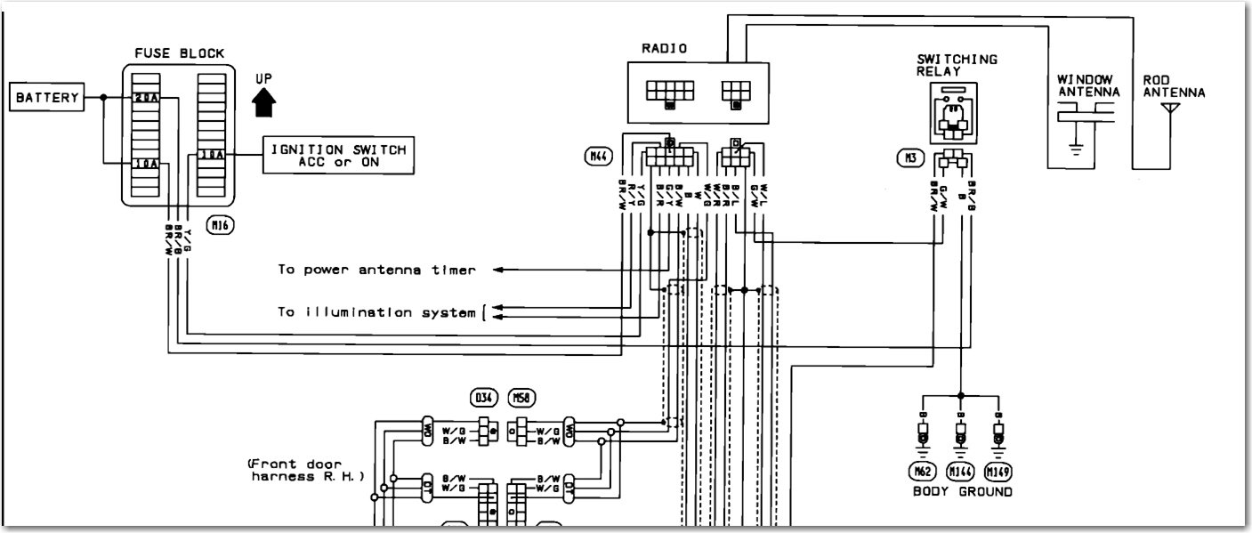 wiring diagram for a 1992 nissan maxima bose stereo factory 95 Nissan  Pickup Wiring Diagram Nissan Car Stereo Wiring Diagram