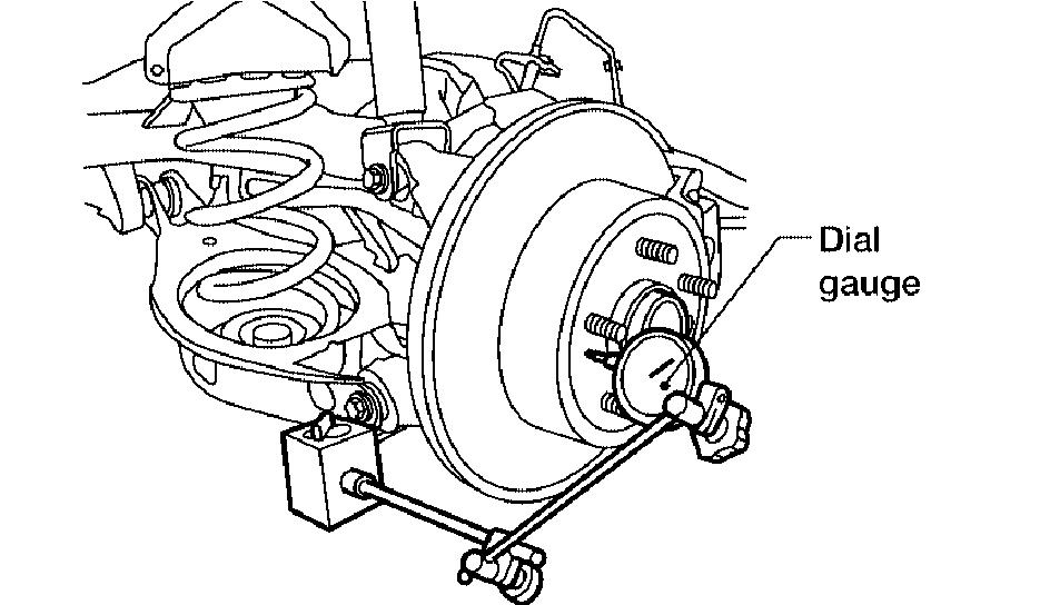 the steps in replacing a rear wheel hub on a 2002 altima
