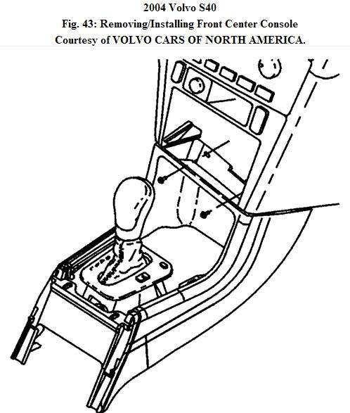 how do i remove the center console on a 2004 volvo s40. Black Bedroom Furniture Sets. Home Design Ideas