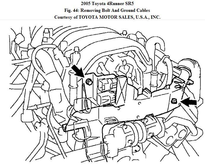 Where Is The Knock Sensor On A 2550 Toyota 4runner V8 How Do You