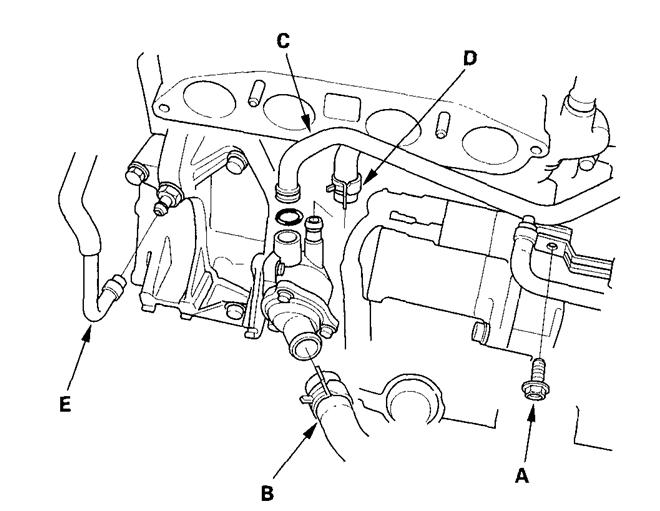 2009 honda cr v engine thermostat location