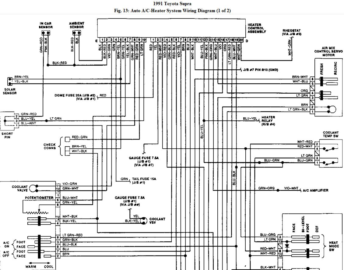Where Is The Air Conditioner Relay For 91 Supra Turbo Replace Ecm Wiring Diagram 1998 Toyota Graphic