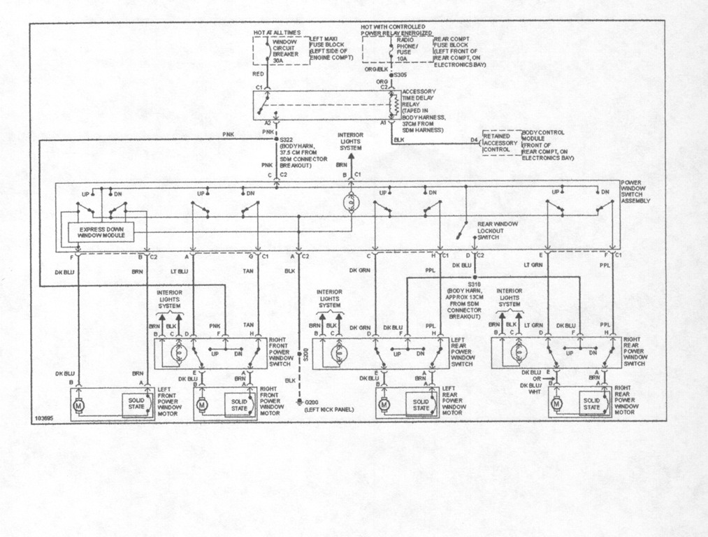96 cadillac seville parts diagram