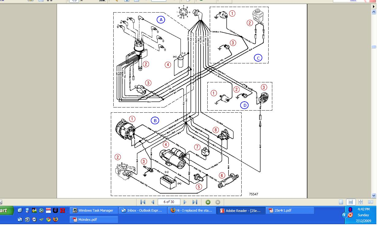 mercruiser thunderbolt 4 wiring diagram online wiring diagrami replaced the starter in my 4 3l v6 mercruiser engine (thunderboltmercruiser thunderbolt 4 wiring