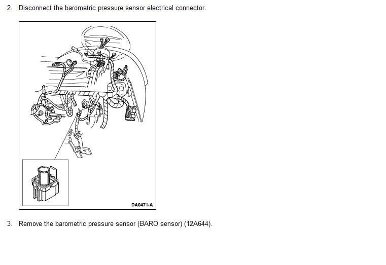 where can i find the barometric pressure sensor on my 1999