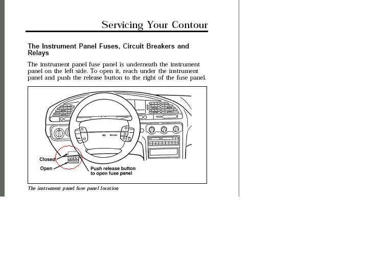 96 Ford Contour Gl  Where Is The Fuse For The Wiper Motor