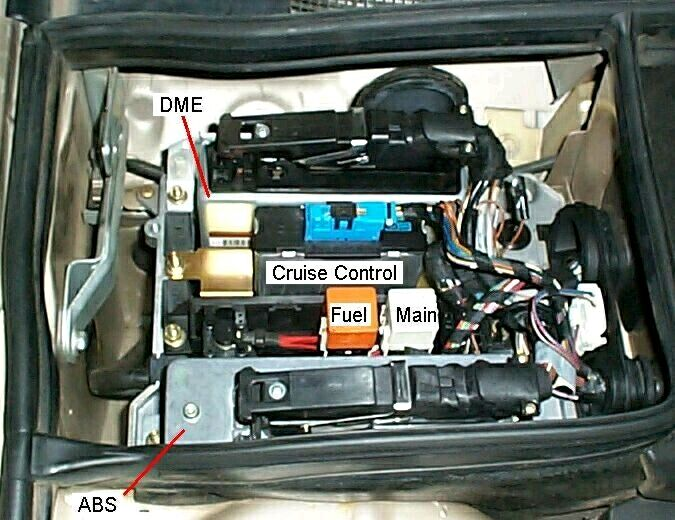 where is the fuel pump relay located on a 1992 bmw 735il