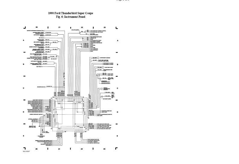 where can i download a wiring diagram on headlights and dash light1990 Ford Thunderbird Wiring Diagram #9