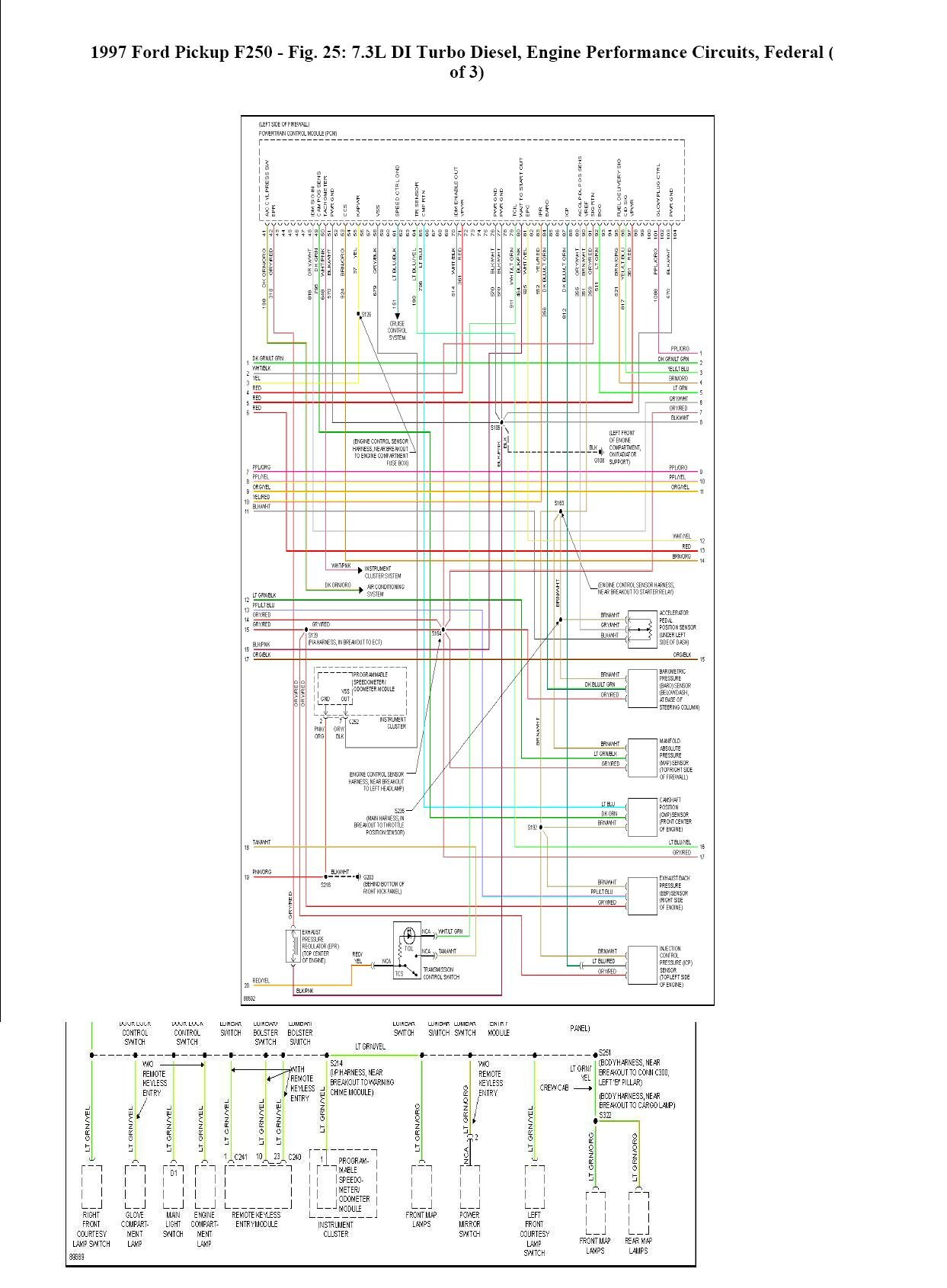 1997 f250 7 3 fuse diagram data wiring diagram schematic 1994 Ford F-350 7.3L Turbo Diesel Engine Diagram 1997 powerstroke engine diagram wiring diagrams click f250 fuse box diagram 1997 f250 7 3 fuse diagram