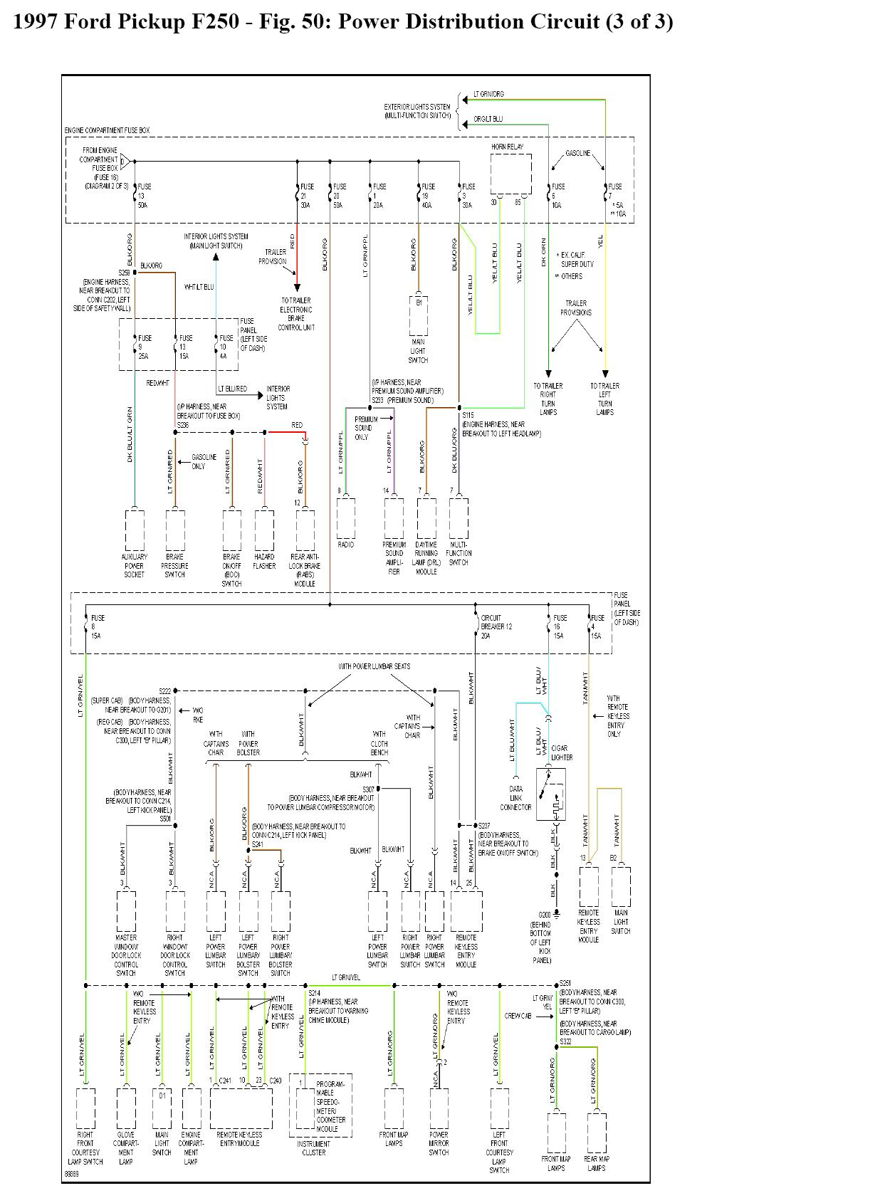 2007 Ford F350 Wiring Diagram Another Blog About Light 7 3 Powerstroke Pcm Special Tail