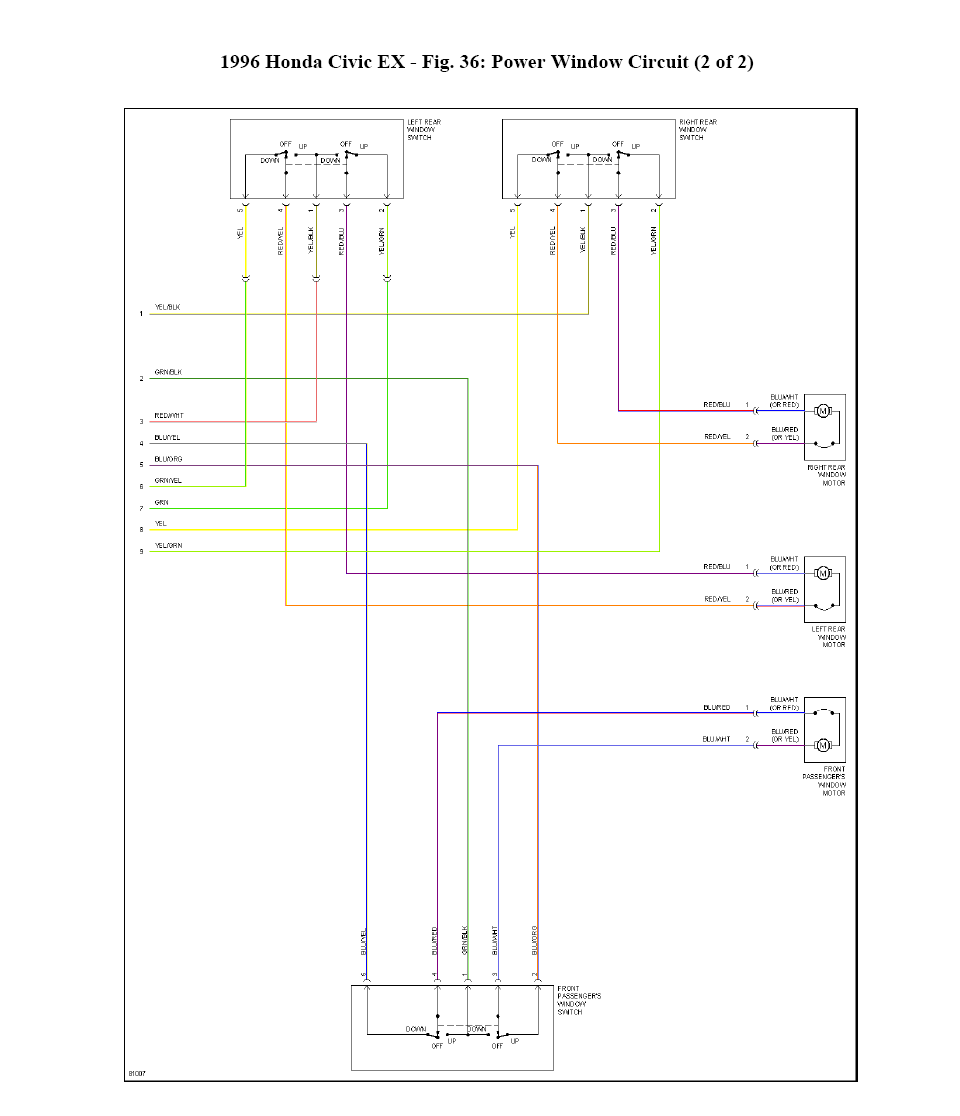 1996 Honda Civic Wiring Diagram Power Windows